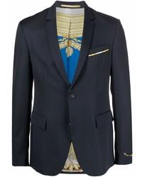 Blazer de lana azul marino de Versace
