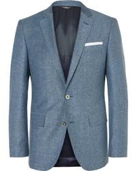 Blazer de lana azul de Hugo Boss