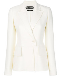 Blazer de Lana Blanco de Tom Ford