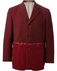 Blazer de lana burdeos de Comme des Garcons