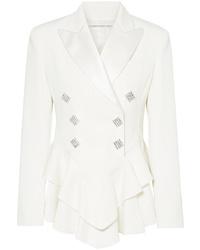 Blazer de lana con adornos blanco de Alessandra Rich