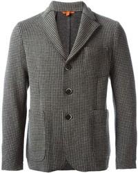 Blazer de lana de cuadro vichy gris de Barena