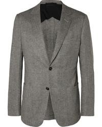 Blazer de lana de espiguilla gris de Dunhill