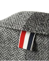 Blazer de lana de espiguilla gris de Thom Browne