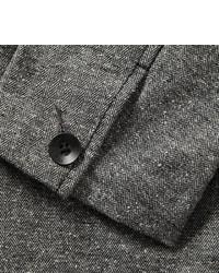 Blazer de lana de espiguilla gris de Rag and Bone