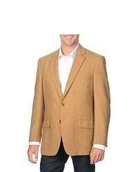 Blazer de lana de espiguilla marrón