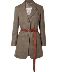 Blazer de lana de espiguilla marrón de Giuliva Heritage Collection