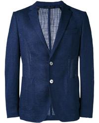 Blazer de lana de punto azul marino de Hugo Boss
