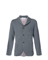 Blazer de lana de punto gris de Thom Browne