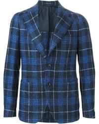 Blazer de lana de tartán azul de Tagliatore