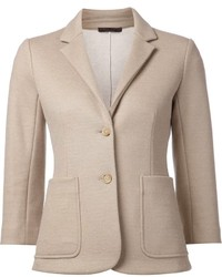 Blazer de lana en beige de The Row