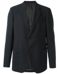 Blazer de lana en gris oscuro de Armani Collezioni