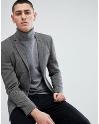 Blazer de lana en gris oscuro de ASOS DESIGN