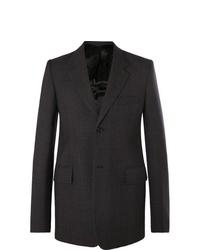 Blazer de lana en gris oscuro de Balenciaga