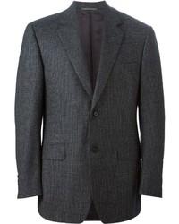 Blazer de lana en gris oscuro de Canali