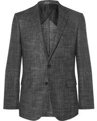 Blazer de lana en gris oscuro de Hugo Boss