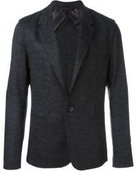 Blazer de lana en gris oscuro de Lanvin