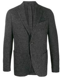 Blazer de lana en gris oscuro de Lardini