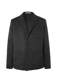 Blazer de lana en gris oscuro de Massimo Alba