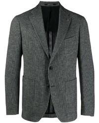 Blazer de lana en gris oscuro de Tagliatore