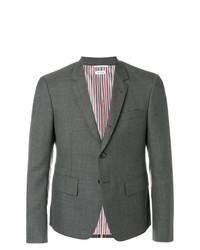 Blazer de lana en gris oscuro de Thom Browne