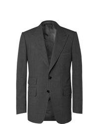 Blazer de lana en gris oscuro de Tom Ford