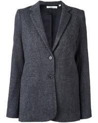 Blazer de lana en gris oscuro de Vince