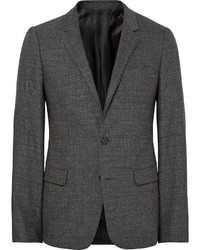 Blazer de lana en gris oscuro de Wooyoungmi