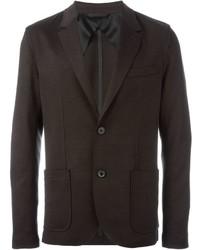 Blazer de lana en marrón oscuro de Lanvin