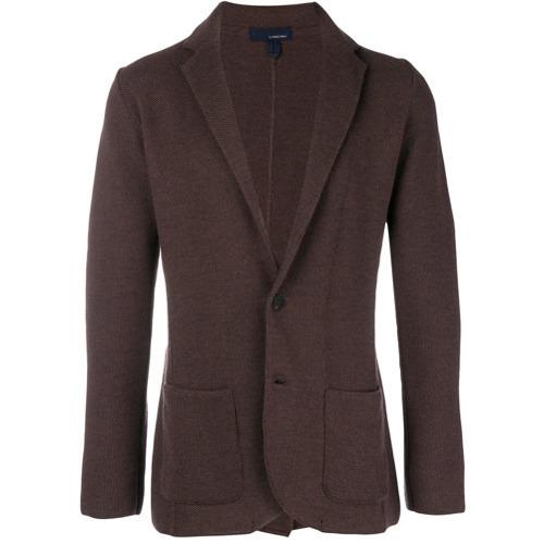 Blazer de lana en marrón oscuro de Lardini