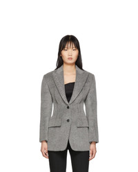 Blazer de lana gris de Alexander Wang