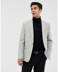 Blazer de lana gris de ASOS DESIGN