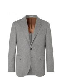 Blazer de lana gris de Brunello Cucinelli