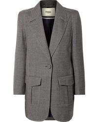 Blazer de lana gris de Fendi