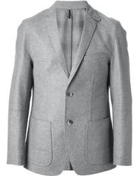 Blazer de lana gris de Hugo Boss