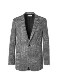 Blazer de lana gris de Saint Laurent