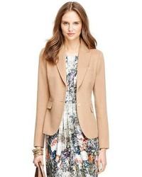 Blazer de lana marrón claro