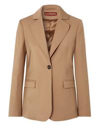 Blazer de lana marrón claro de ALEXACHUNG
