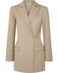 Blazer de lana marrón claro de Anna Quan