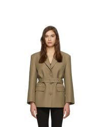 Blazer de lana marrón claro de Low Classic