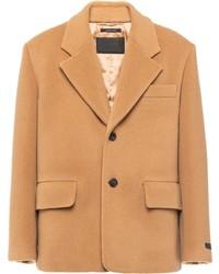 Blazer de lana marrón claro de Prada