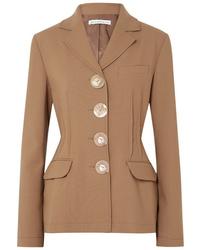 Blazer de lana marrón claro de Rejina Pyo
