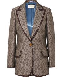 Blazer de lana marrón de Gucci