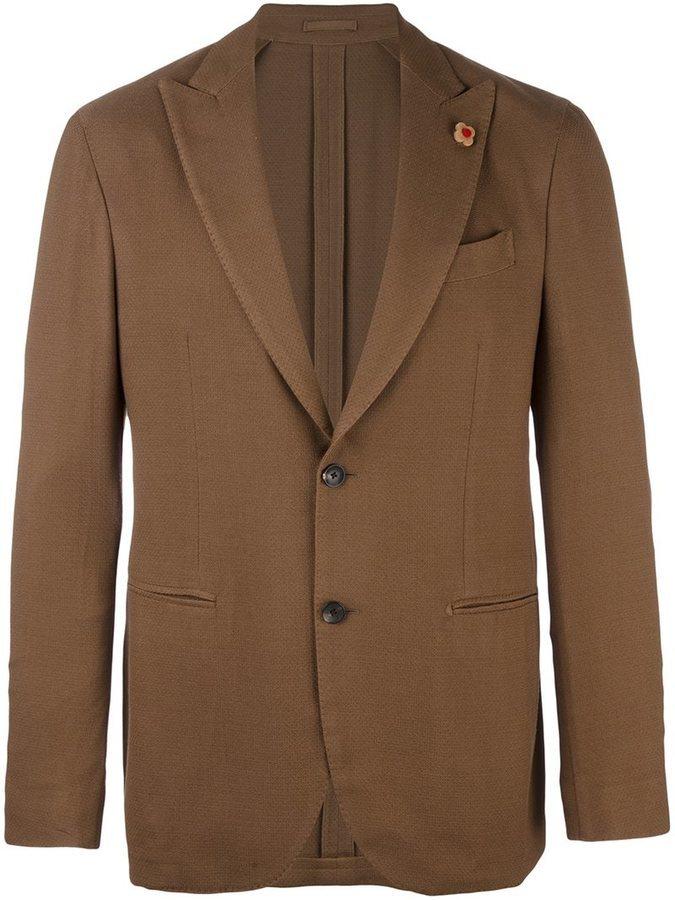 Blazer de lana marrón de Lardini
