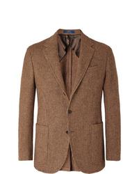Blazer de lana marrón de Polo Ralph Lauren