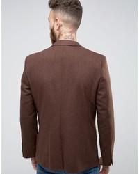 Blazer de lana marrón de Asos