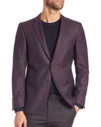 Blazer de lana morado oscuro