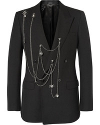 Blazer de lana negro de Alexander McQueen