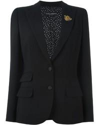 Blazer de lana negro de Dolce & Gabbana