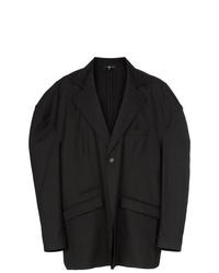 Blazer de lana negro de Edward Crutchley